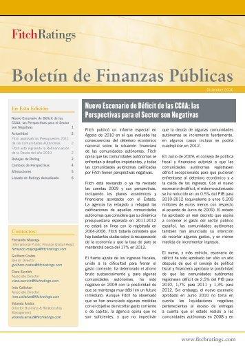 Boletín de Finanzas Públicas - Fitch Ratings España