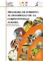 Desarrollo de la Competitividad Agraria - Ministerio de Agricultura y ...