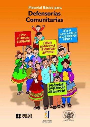 Manual básico para Defensorías Comunitarias ... - Justicia Viva