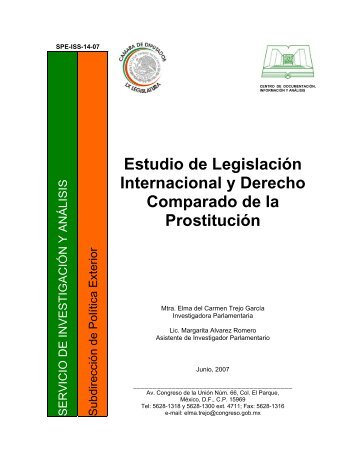 Estudio de Legislación Internacional y Derecho Comparado de la ...