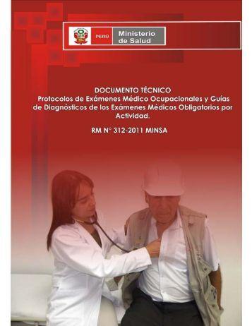 Protocolos de Exámenes Médico Ocupacionales - Dirección ...