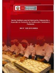 Norma Sanitária para la Fabricación, Elaboración y Expendio de ...
