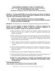 Reglamento para la Titulación - Universidad del Mar
