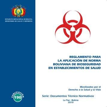 reglamento para la aplicación de la norma de bioseguridad