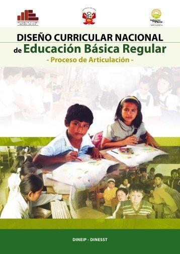 Diseñó Curricular Nacional - Ministerio de Educación