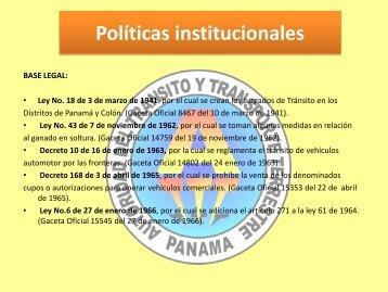 Políticas institucionales - Autoridad del Tránsito y Transporte Terrestre