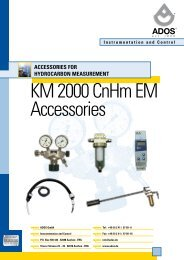 Accessories for Hydrocarbon Measurement - Ados GmbH