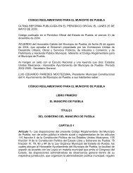 Código Reglamentario para el Municipio de Puebla