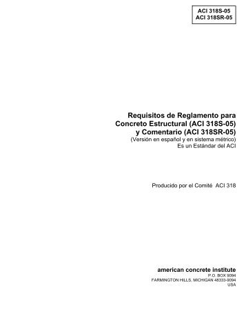 Requisitos de Reglamento para Concreto Estructural (ACI ... - Inti