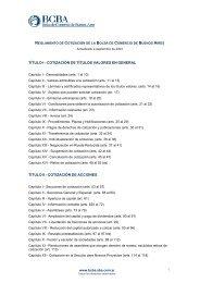 Reglamento de Cotización - Bolsa de Comercio de Buenos Aires