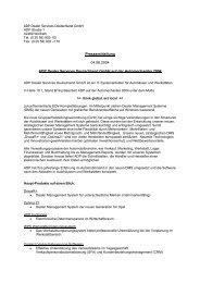 ADP Dealer Services Deutschland GmbH ist ein Systemhaus für ...