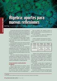 Álgebra: aportes para nuevas reflexiones - Quehacer Educativo