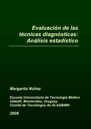 Evaluación de las técnicas diagnósticas: Análisis ... - ALASBIMN