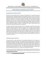 Marco Macroeconómico 2012-2015 - Ministerio de Hacienda