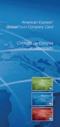 Contrato de Compra do Associado Company Card - American Express