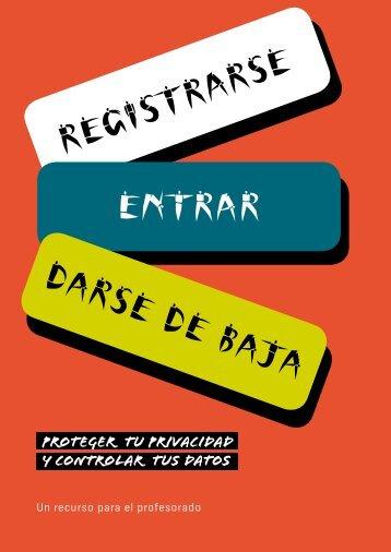 Registrarse ENTRAR DARSE DE BAJA - Agencia Española de ...