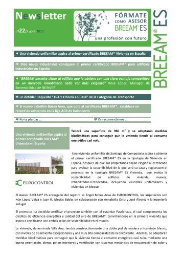 Newsletter 22 - Abril de 2012 - Breeam Es