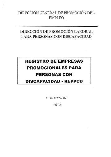Registro de empresas promocionales para personas con ...