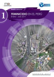 FEMINICIDIO EN EL PERÚ Enero - Julio 2011