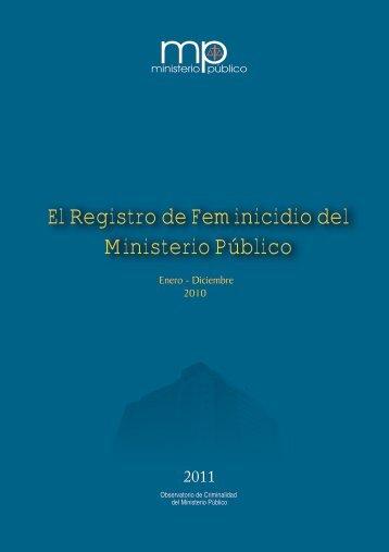 El Registro de Feminicidio del Ministerio Público