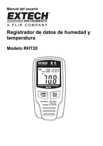 Registrador de datos de humedad y temperatura - Extech Instruments