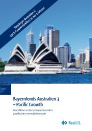 Bayernfonds Australien 3 – Pacific Growth - Real IS