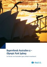 Bayernfonds Australien 4 – Olympic Park Sydney - Real IS