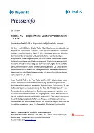 Real I.S. AG – Brigitte Walter verstärkt Vorstand zum 1.7.2006