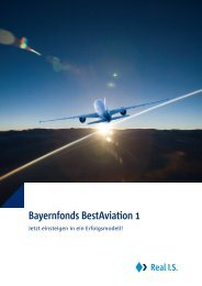 Bayernfonds BestAviation 1 - Real IS