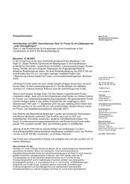 Presseinformation Vertriebsstart Juli 2007: Geschlossener Real I.S. ...