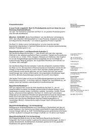 Presseinformation 6 neue Fonds vorgestellt: Real I.S.-Produktpalette ...