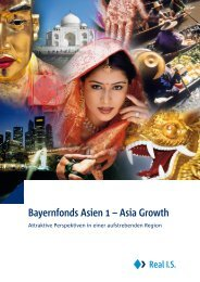 Bayernfonds Asien 1 – Asia Growth - Real IS