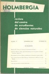 Biblioteca Digital | FCEN-UBA | Holmbergia Nº 10 Revista del ...