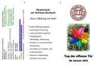 Tag der offenen Tür - Realschule am Schloss Borbeck