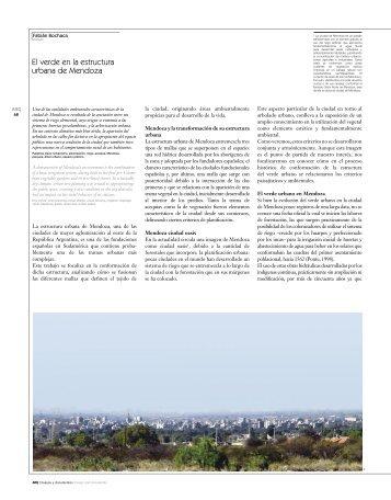 El verde en la estructura urbana de Mendoza - SciELO