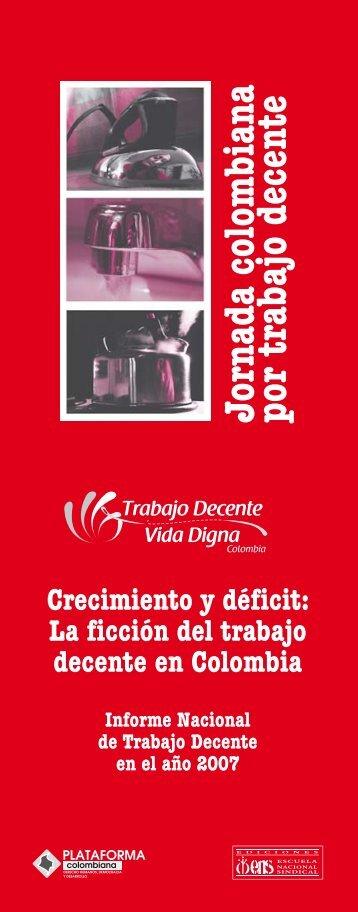 Jornada colombiana por trabajo decente - Escuela Nacional Sindical