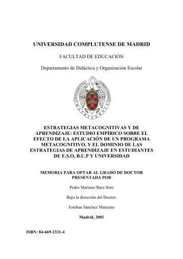 estrategias metacognitivas y de aprendizaje - Biblioteca de la ...