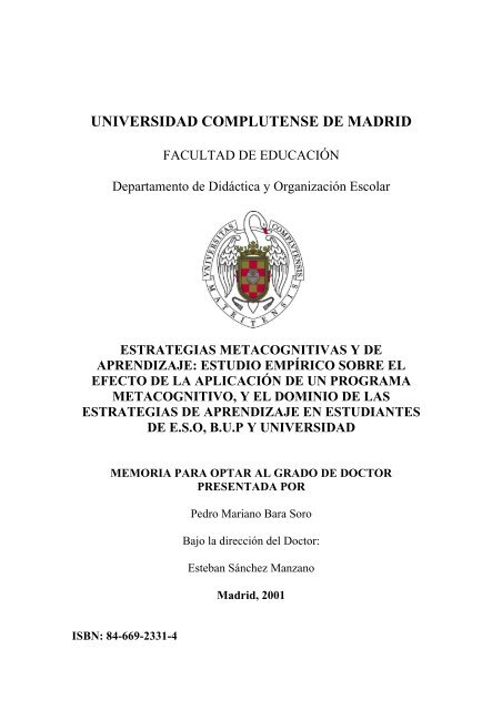 Estrategias Metacognitivas Y De Aprendizaje Biblioteca De
