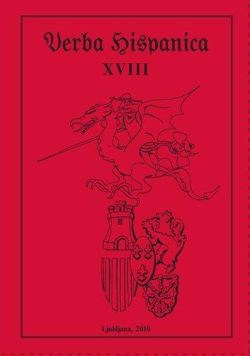 VERBA HISPANICA XVIII 2010.pdf - Filozofska fakulteta