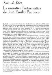 Luis A. Diez La narrativa fantasmática de José Emilio Pacheco