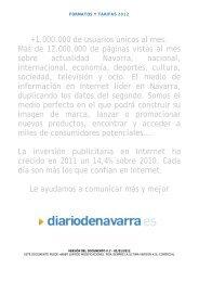 Tarifas - Diario de Navarra