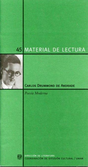 CARLOS DRUMMOND DE ANDRADE - Libros UNAM - Universidad ...