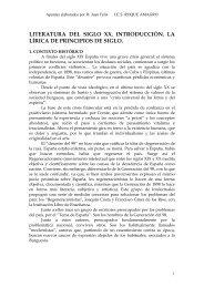 literatura del siglo xx. introducción. la lírica de ... - Principal. Enlaces
