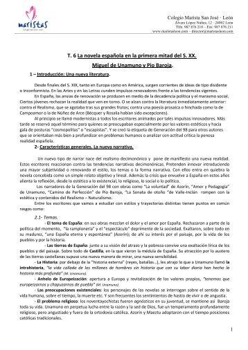 La novela española en la primera mitad del siglo XX. Unamuno y ...