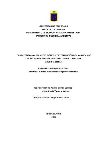 Caracterización del Medio Biótico y Determinación de la - Quintero ...
