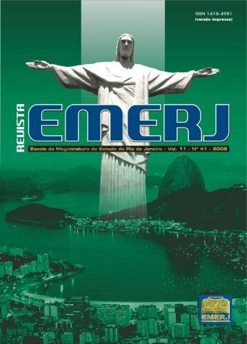 10 Anos da Revista EMERJ - Emerj - Tribunal de Justiça do Estado ...
