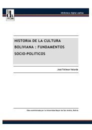 Historia de la Cultura Boliviana: Fundamentos Socio-Políticos