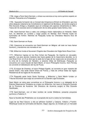 El péndulo de Focault_2 – Umberto Eco - Priorato de Mexico