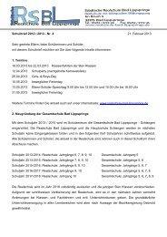 Schulbrief 2012 / 2013 - Städtische Realschule Bad Lippspringe