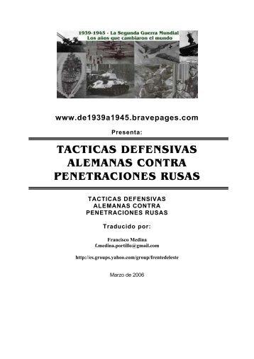 tacticas defensivas alemanas contra penetraciones rusas